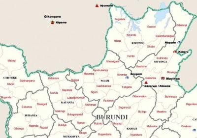 Mapa de Burundi zona norte