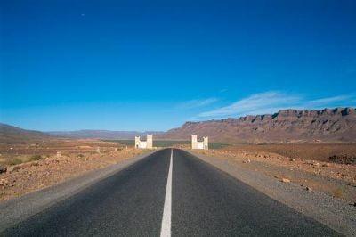 Mapa de carreteras de Marruecos lado sur