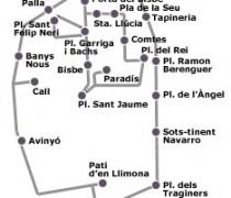 Mapa de El Barrio Gótico en Barcelona