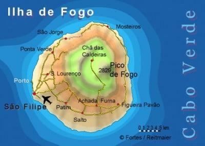 mapa de isla de fogo