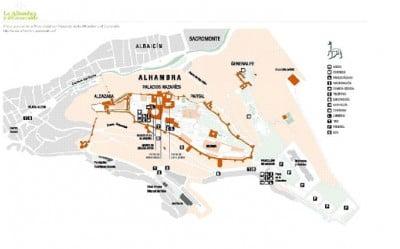 Mapa de la Alhambra