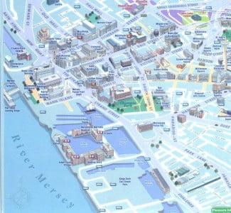 mapa de la costa de Liverpool