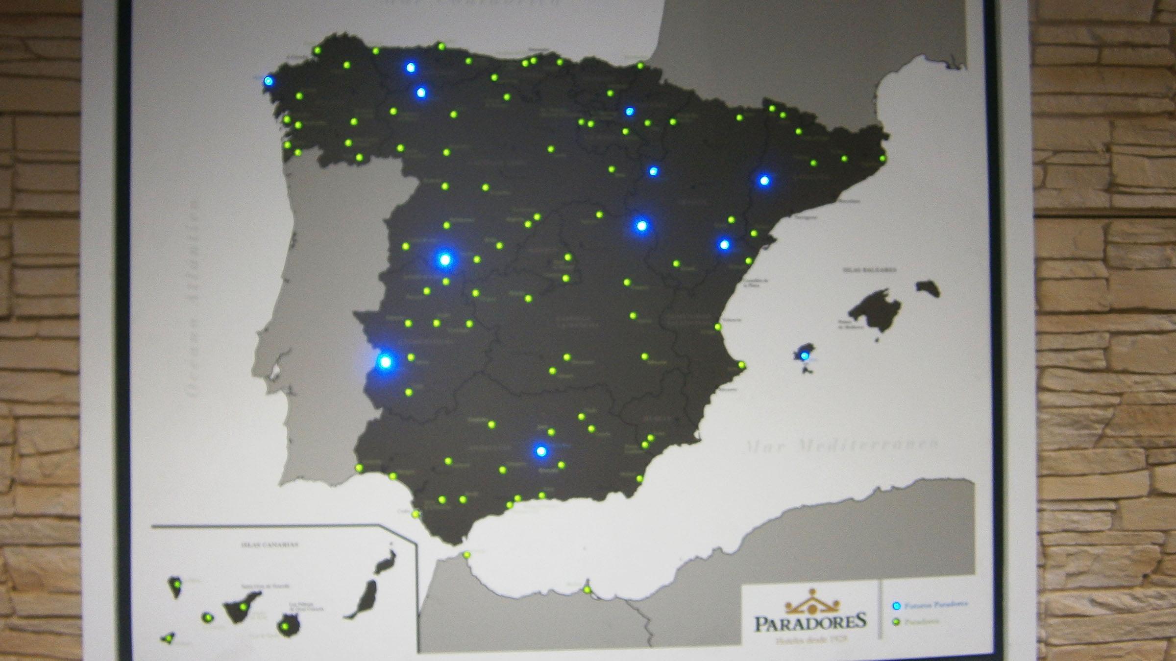 Paradores De España Mapa.Mapa De La Red De Paradores De Espana