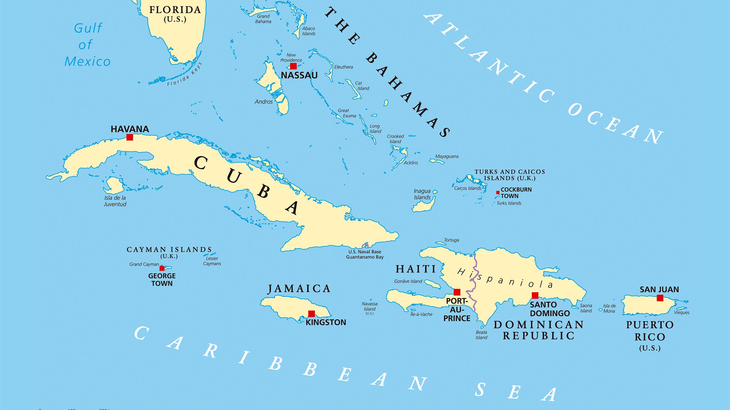 Los pases de Amrica Insular y sus capitales