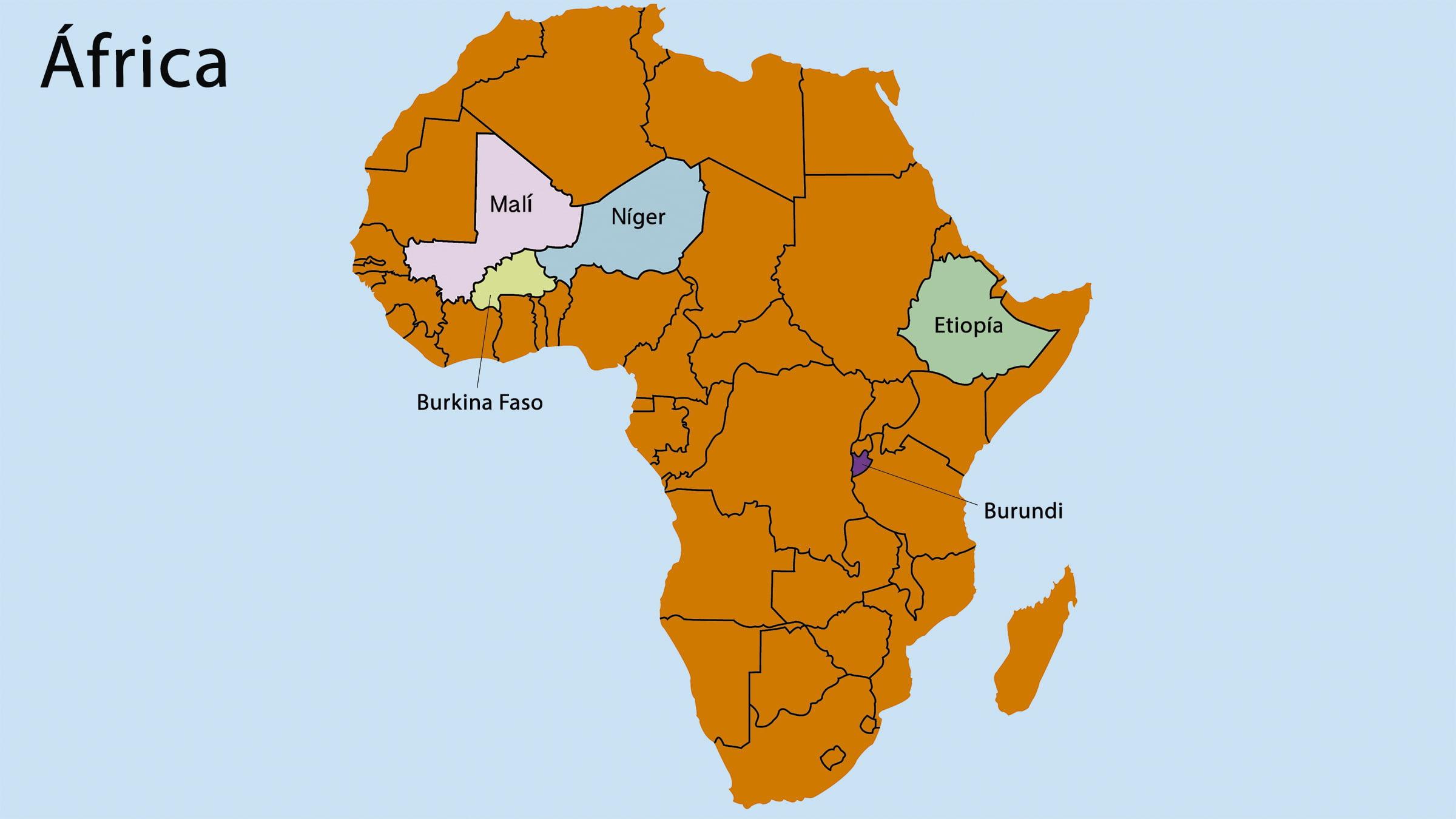 Pases ms pobres del mundo por continentes