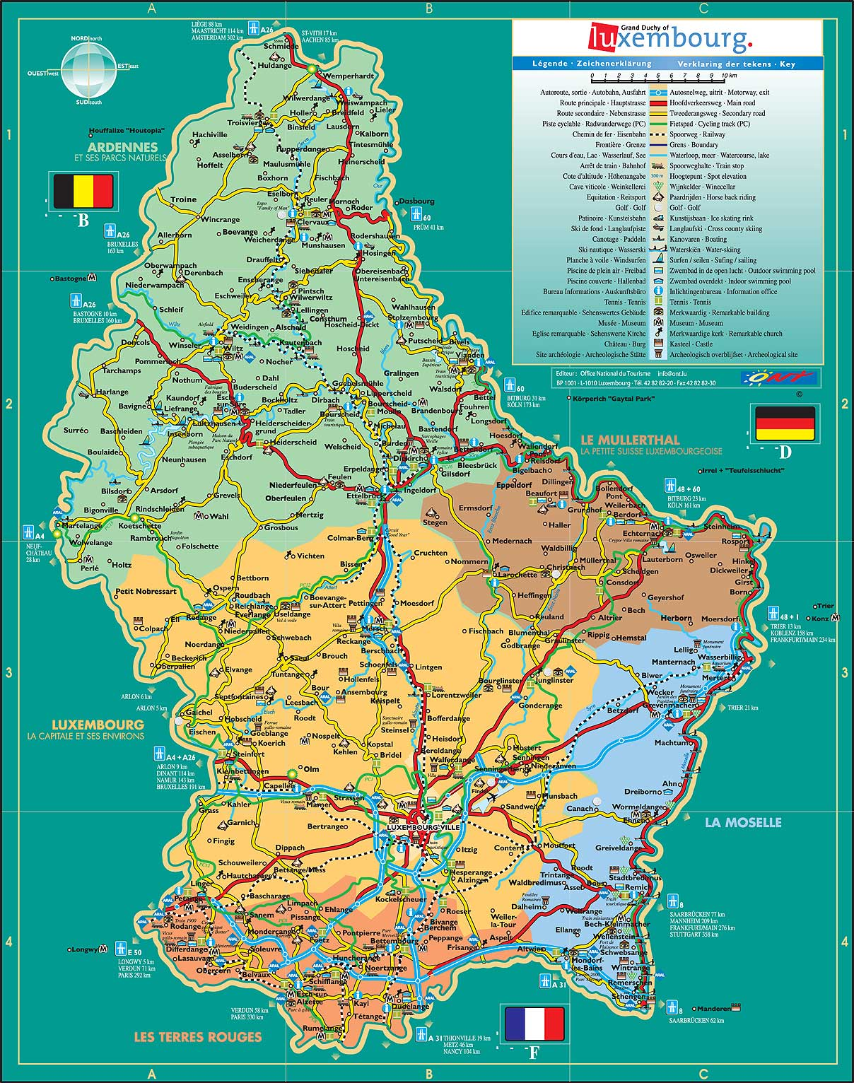 mapa luxemburgo Mapa de Luxemburgo mapa luxemburgo