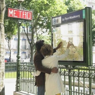mapa de París en el metro