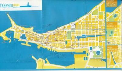 Mapa de Trapani