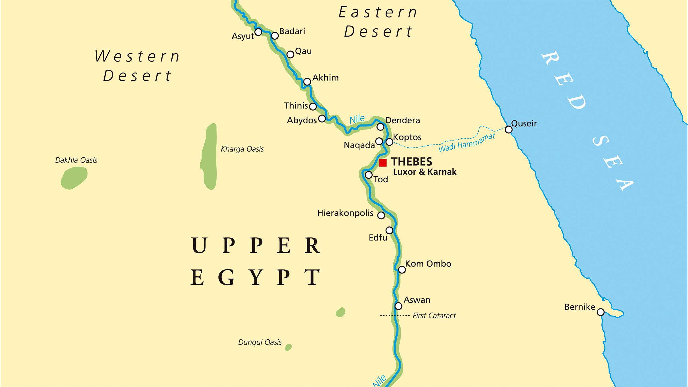 mapa del antiguo Egipto río Nilo