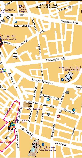 mapa del este de liverpool