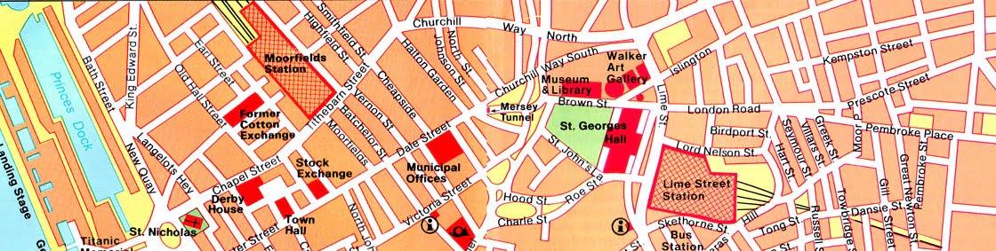mapa del norte de Liverpool