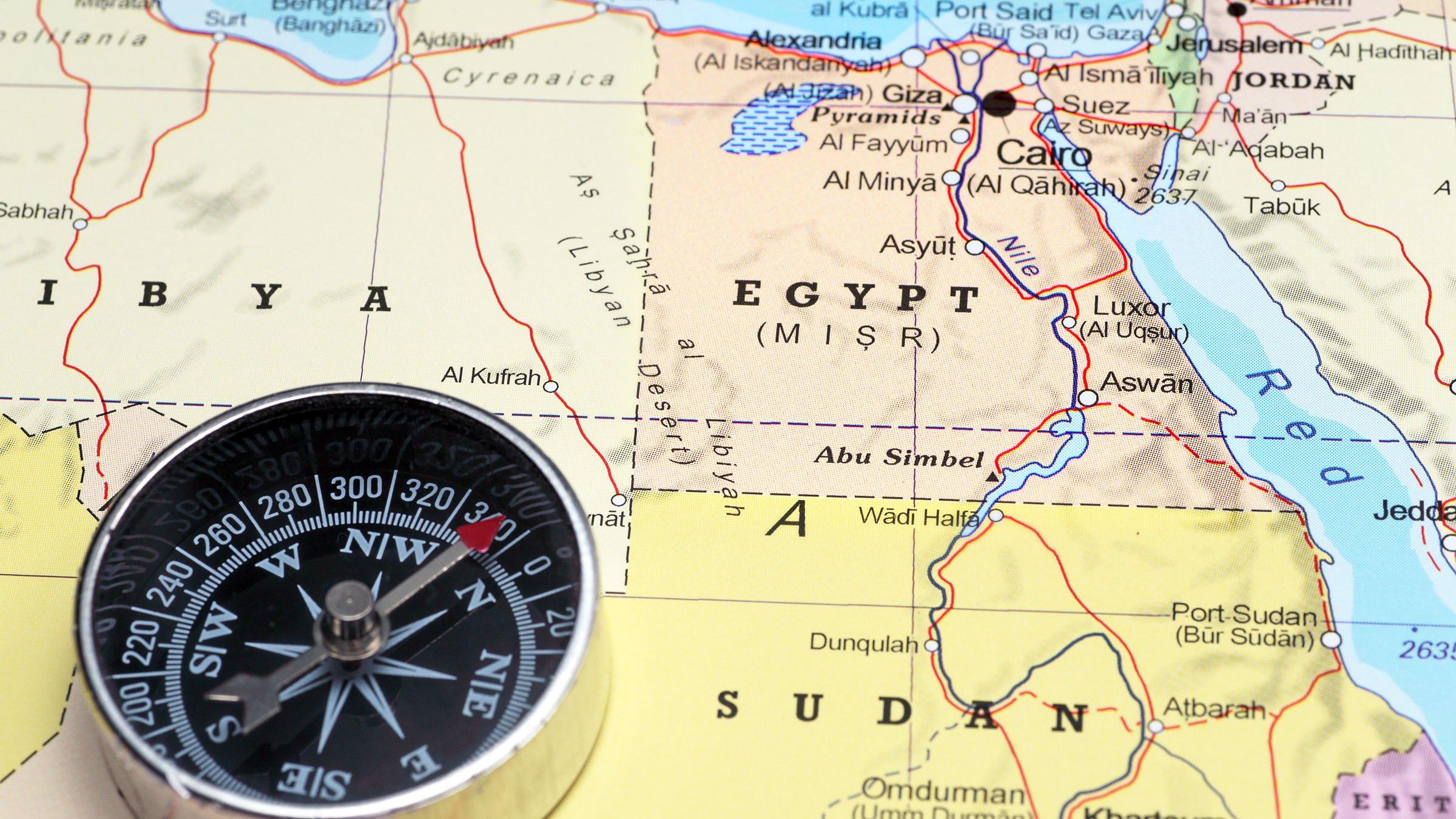 mapa egipto turismo