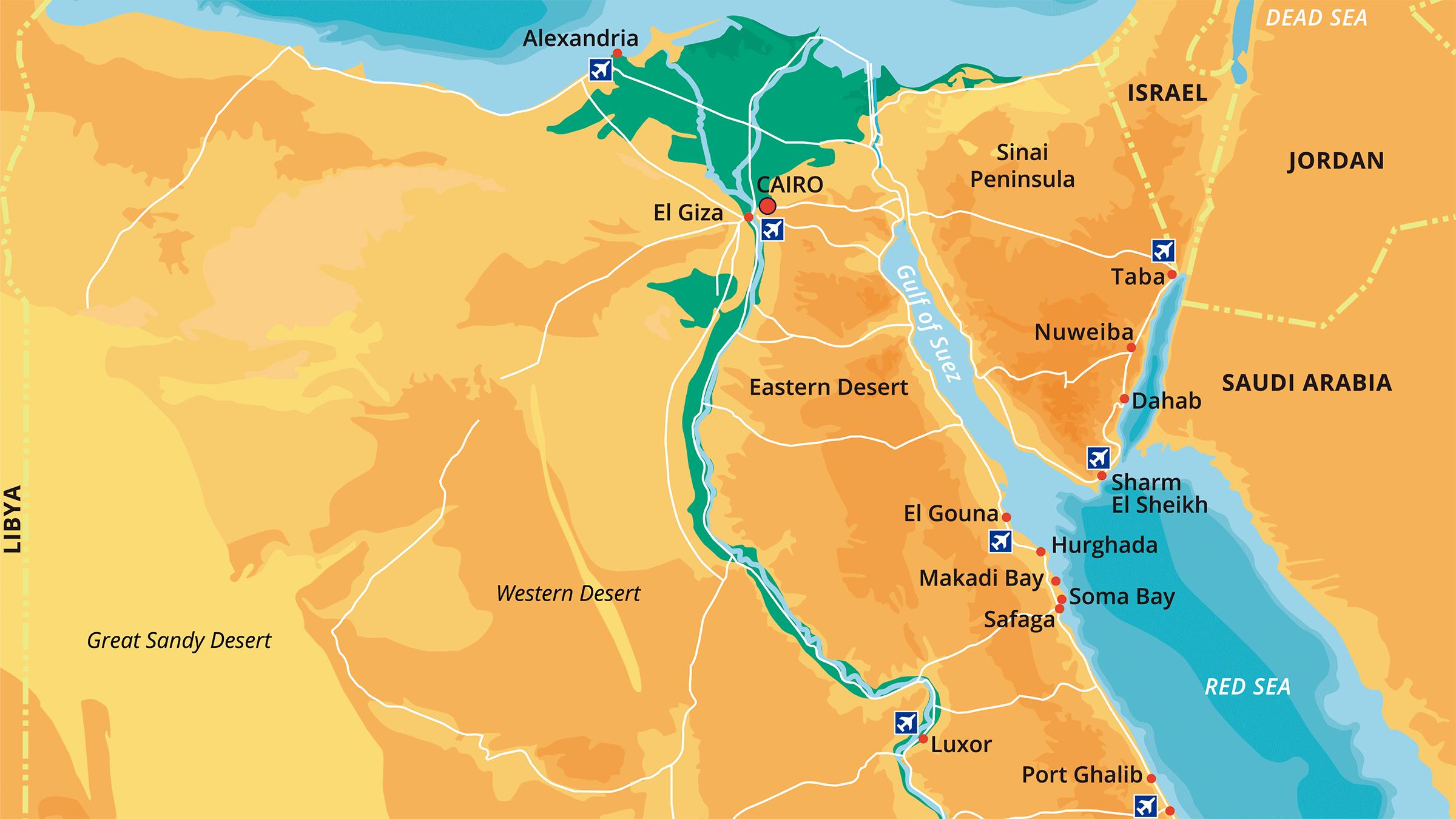 egipto mapa Mapa de Egipto egipto mapa