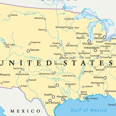 Mapa Político de Estados Unidos