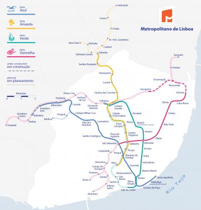 Mapa del Metro de Lisboa