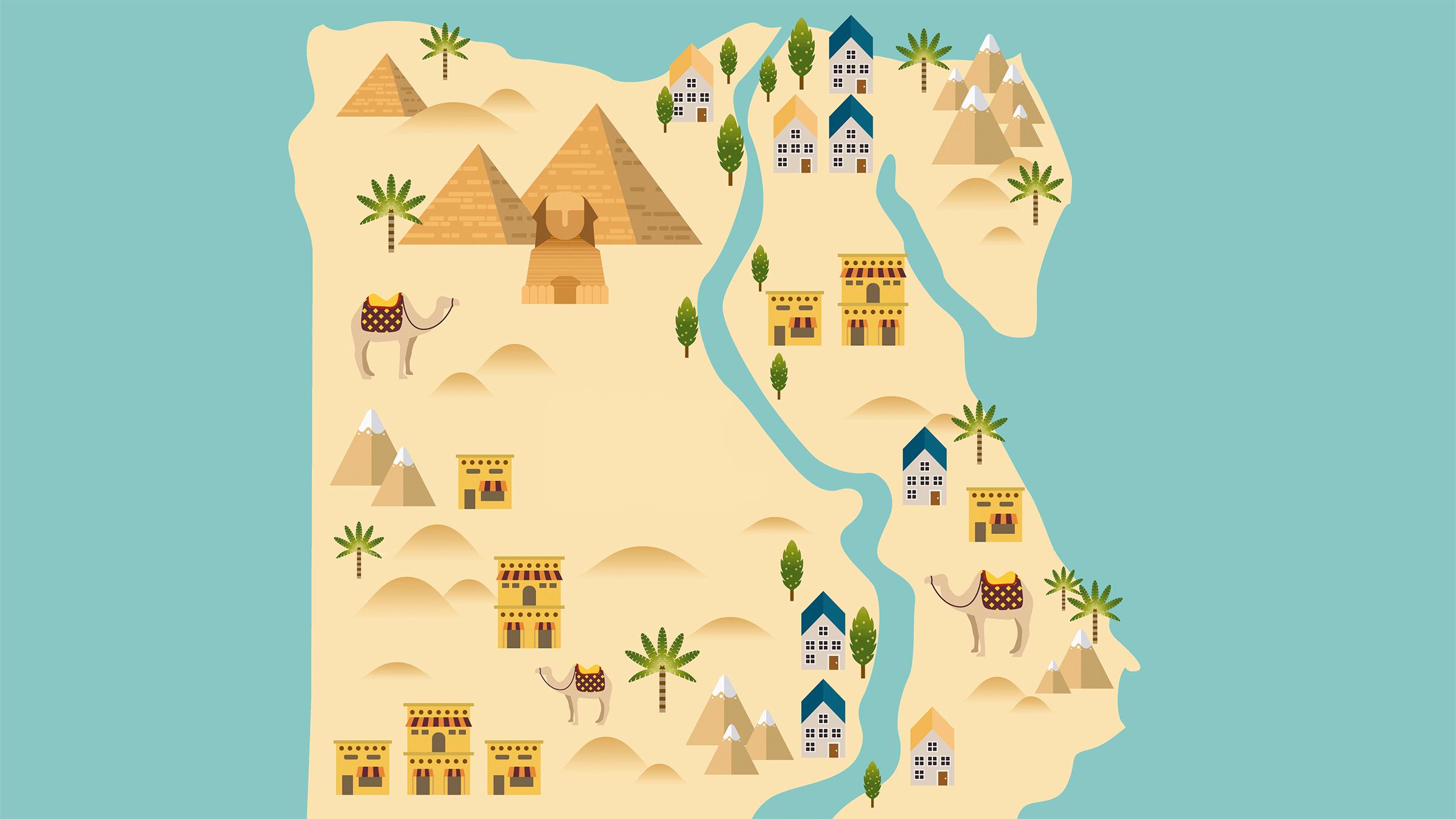 mapa monumentos egipto