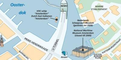 Mapa del Museo Marítimo de Ámsterdam