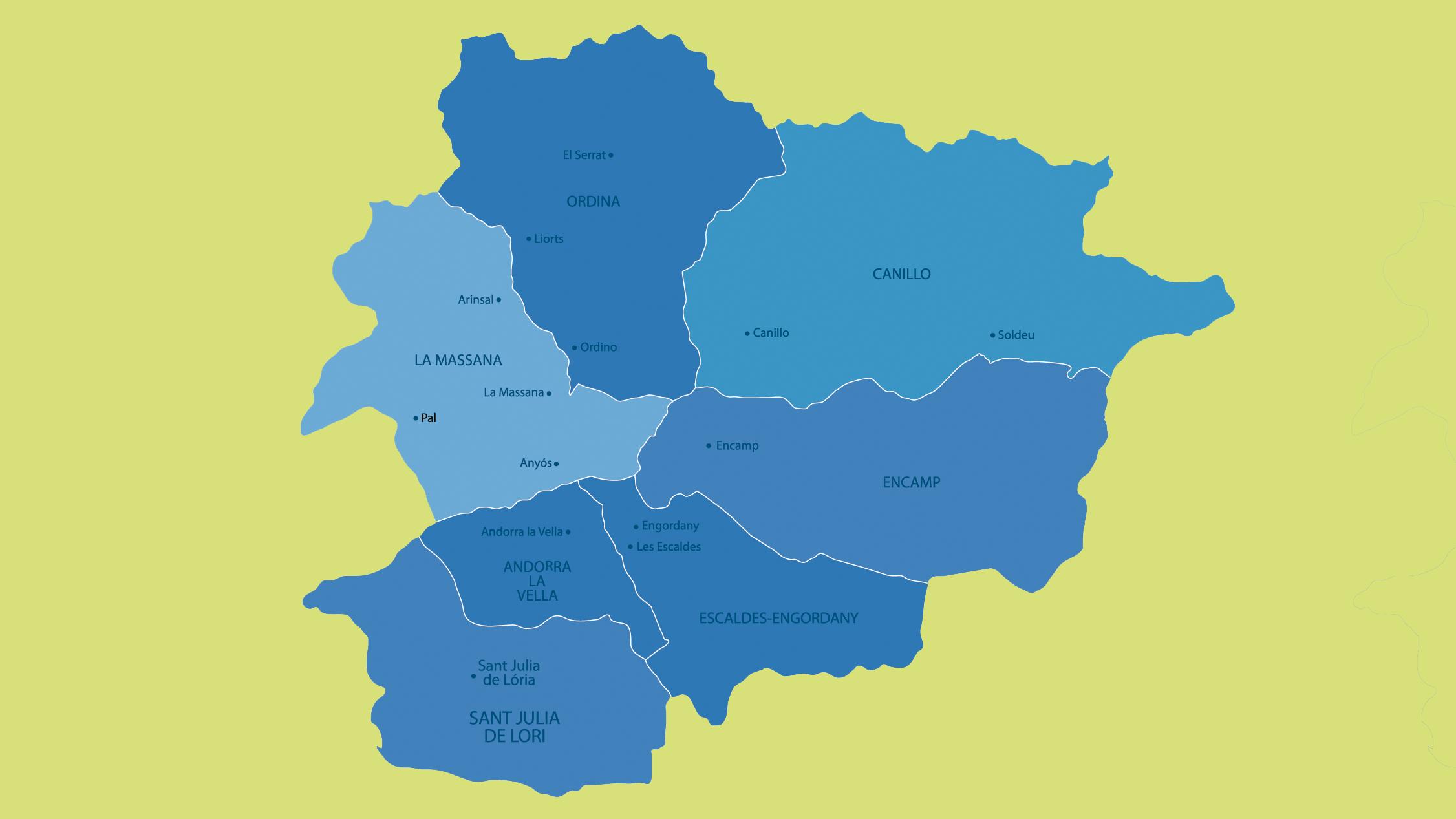 Mapa político de Andorra