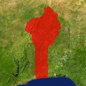 Mapa satelital de Benín