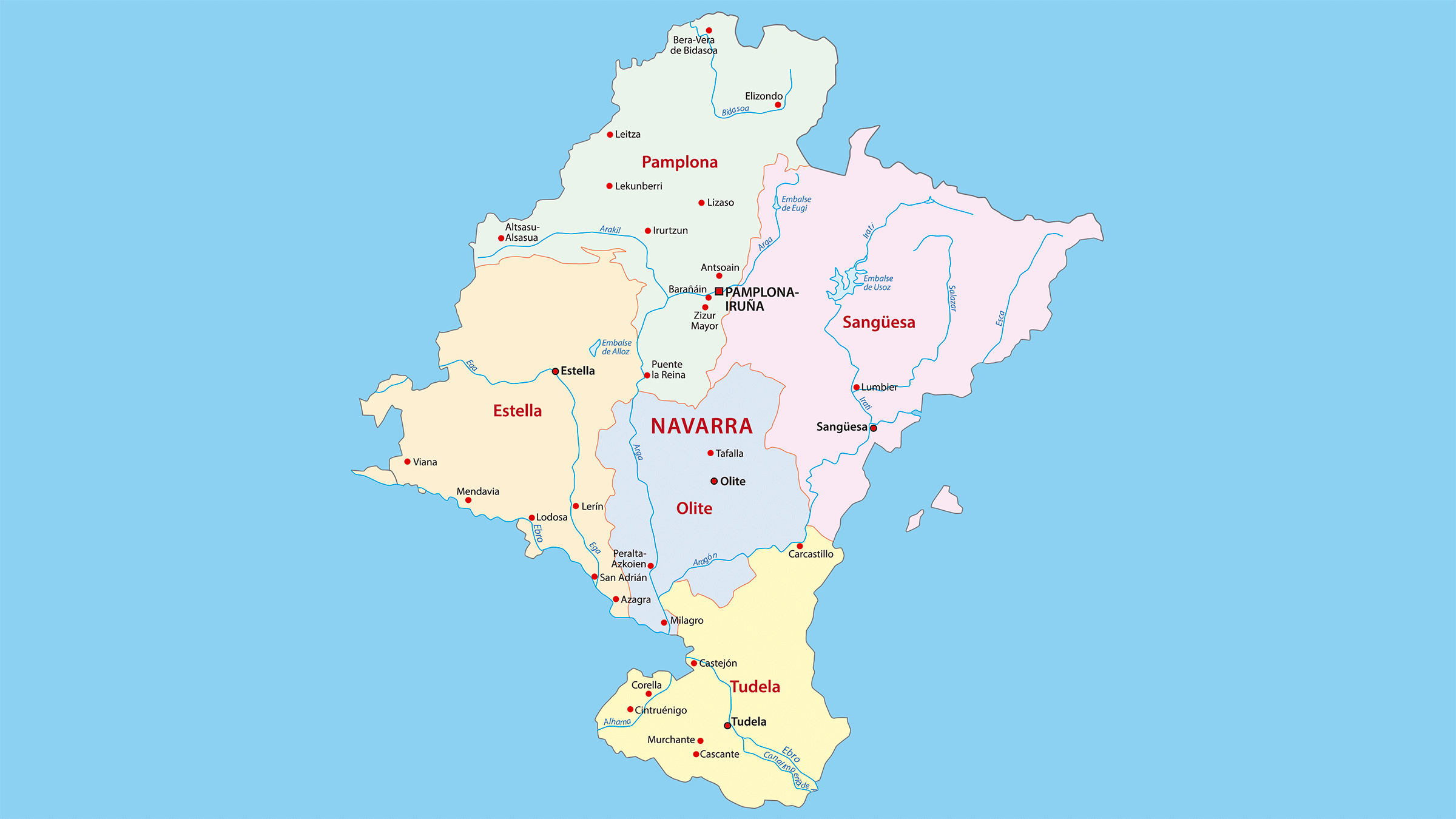 Mapa turístico de Navarra