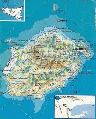 Mapa de la Isla de Utisca
