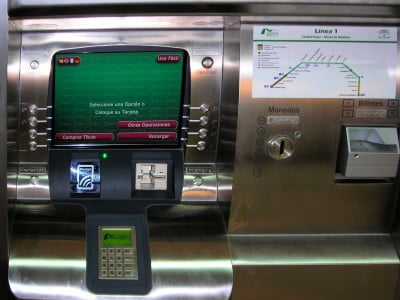 Máquina de billetes del Metro de Sevilla