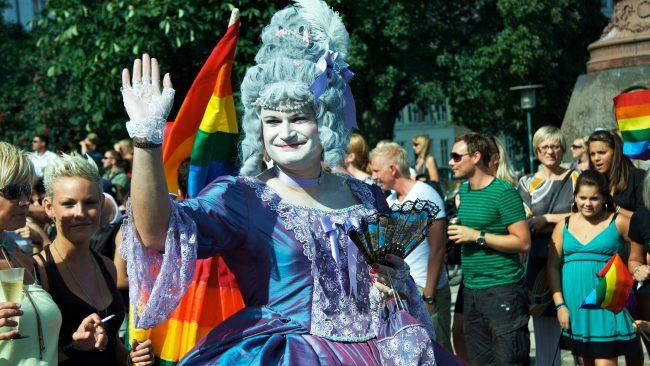 Marcha do orgullo gay en Copenhague, Dinamarca