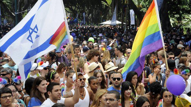 Marcha do orgullo gay en Tel Aviv, Israel