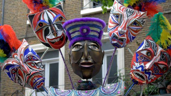 Máscaras en el Carnaval de Notting Hill
