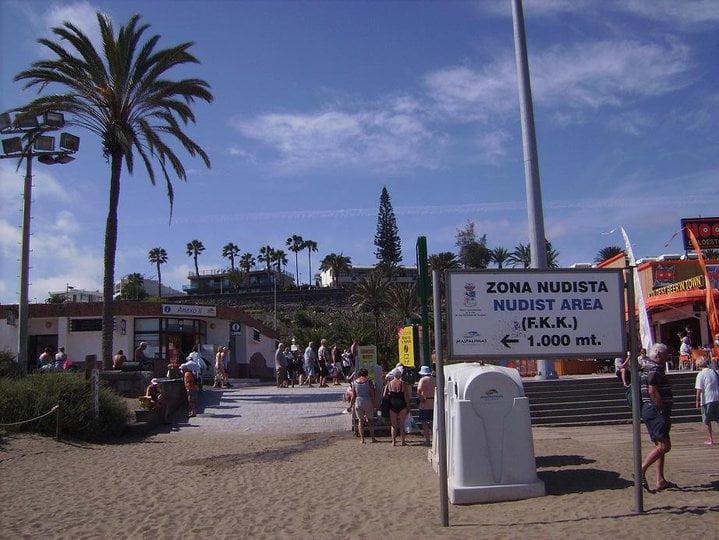 playa maspalomas zonas