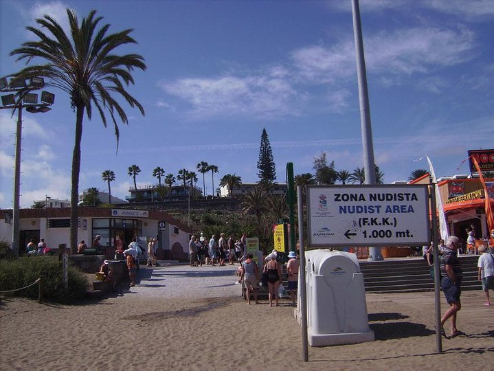 playa de maspalomas zona naturista