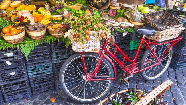 Mercado de la Plaza Campo de' Fiori, Roma
