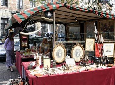 Mercado de pulgas en Du Grand Sablon