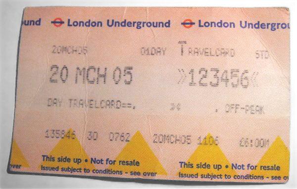 metro de Londres el boleto