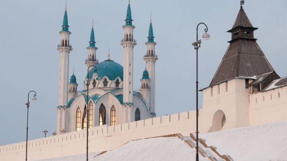 Mezquita Qol Sharif en Kremlin de Kazán, Rusia