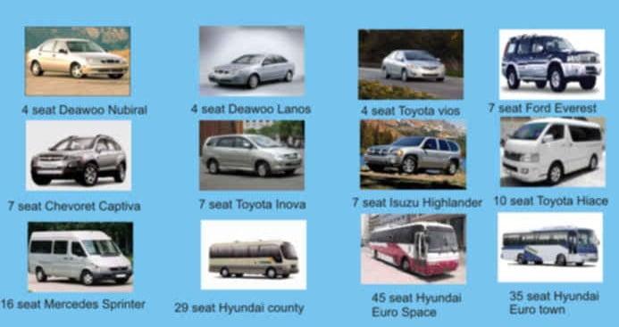 Modelos de coches de alquiler