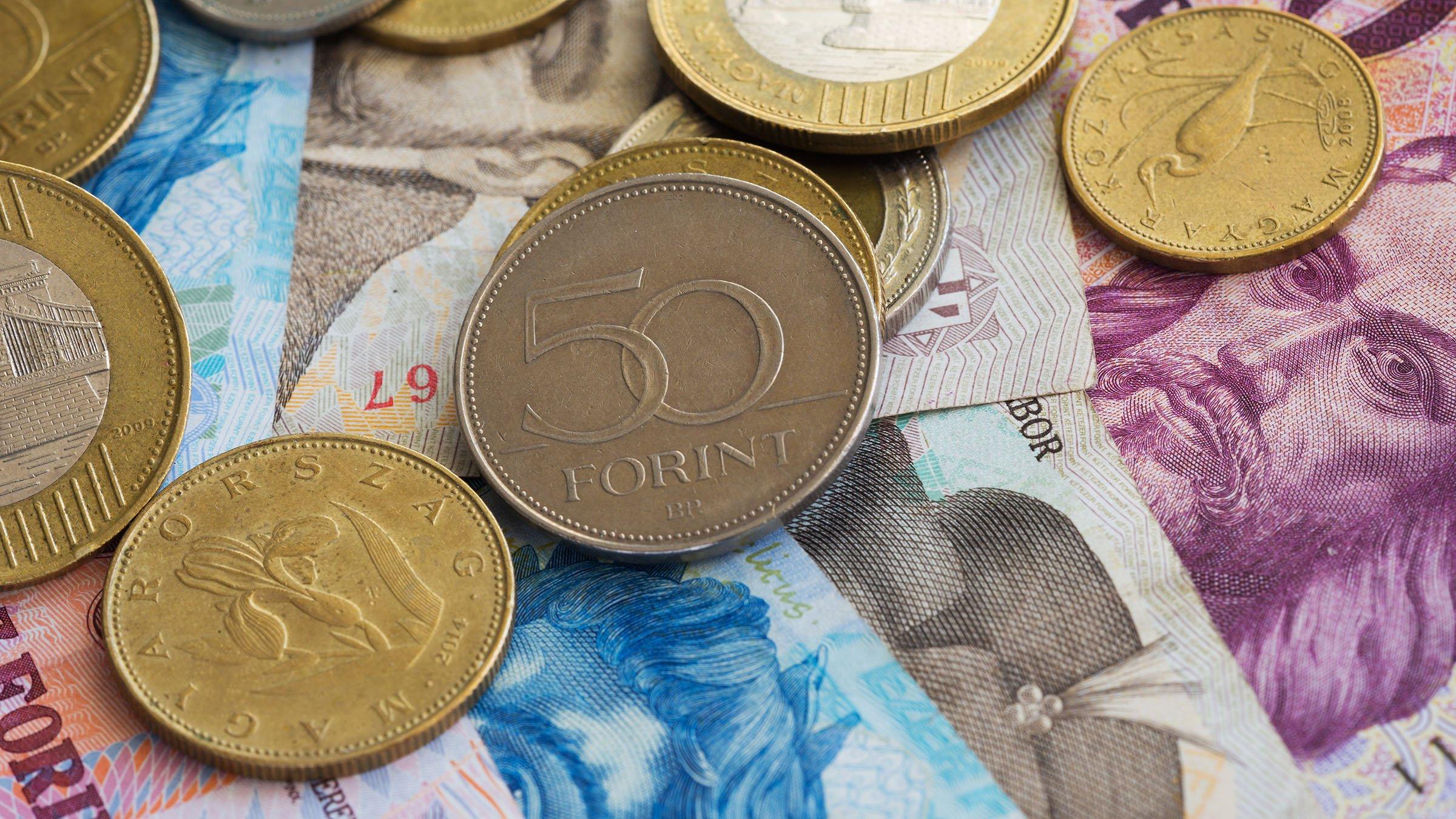 Monedas y billetes actuales de hungr a for Oficinas de cambio de moneda en barcelona