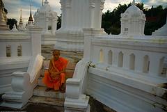 Monje en Chiang Mai