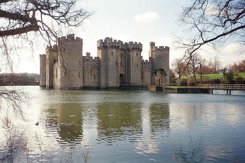 monumentos en el Reino Unido Castillo de Bodiam Inglaterra