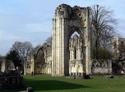 monumentos en el Reino Unido Restos de la Abadía de Santa María