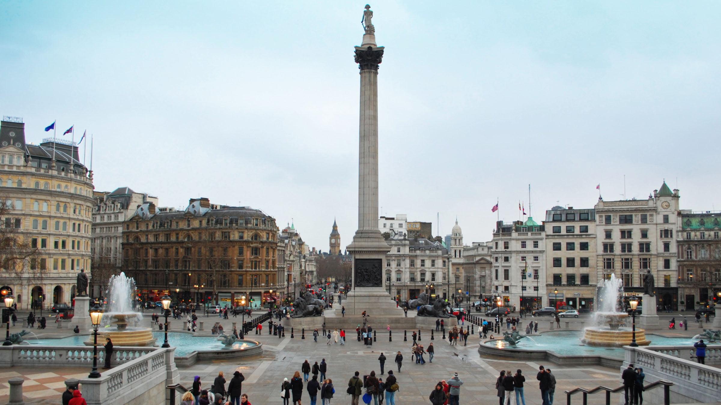 Monumentos de Inglaterra Trafalgar Square desde la National Gallery