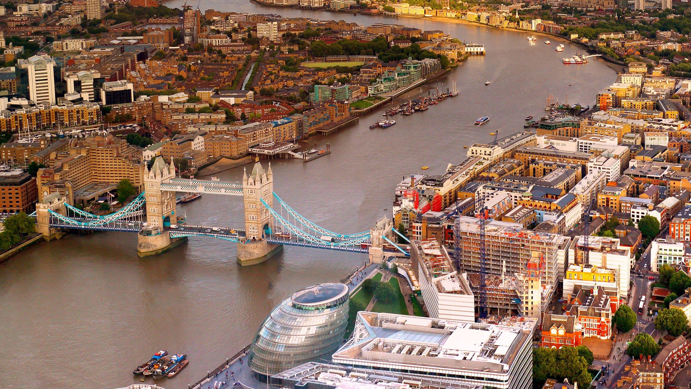 Monumentos de Inglaterra vista de la Torre de Londres