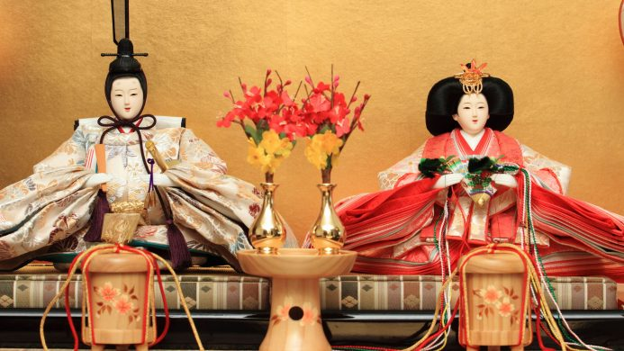 Muñecas hina en el Festival de las Muñecas (Tokio)