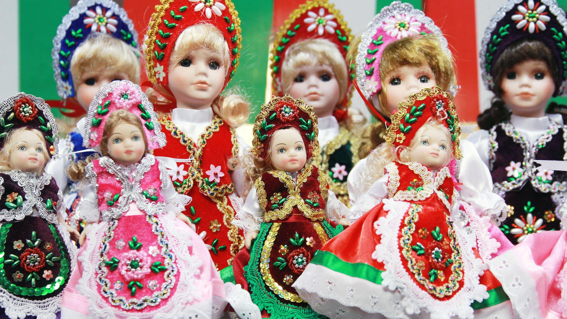 Muñecas Típicas De Hungría Con Vestuario Tradicional