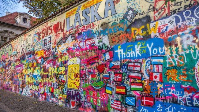Muro de John Lennon, en Malá Strana, Praga