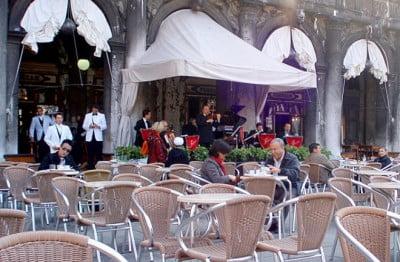 Música en la terraza del Florian