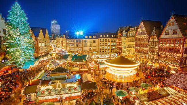 Mercado de Navidad en Frankfurt, Alemania
