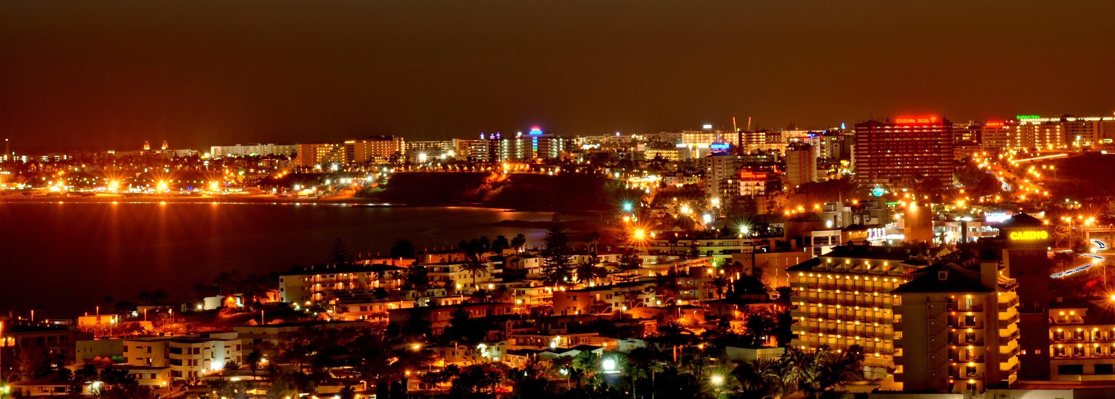 Noche en Playa del Inglés