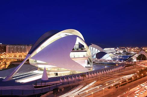 Nocturno de la Ciudad de las Ciencias, Valencia