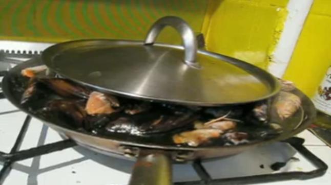 paella en preparación